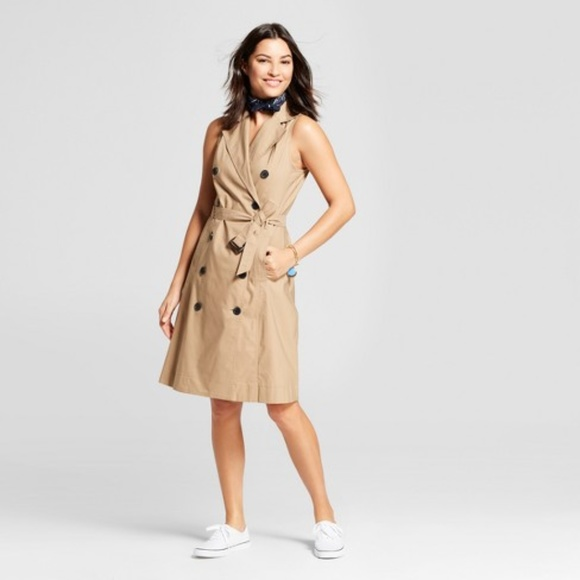 ac78a270ec6 Sleeveless Trench Dress